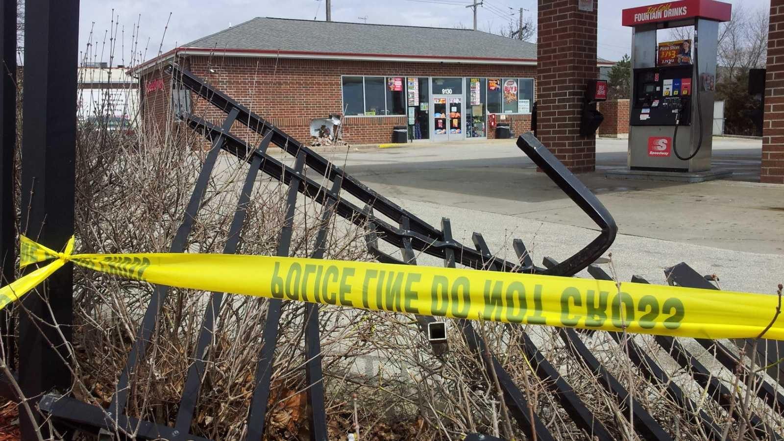 Truck slams into West Allis gas station