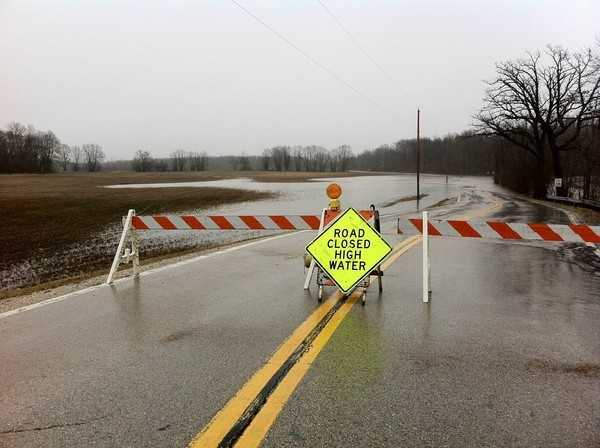 Our partners at the Oak Creek Patch report County Line road has been closed because of heavy ponding on the road.