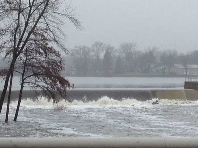 Waters are flowing swiftly in Burlington.