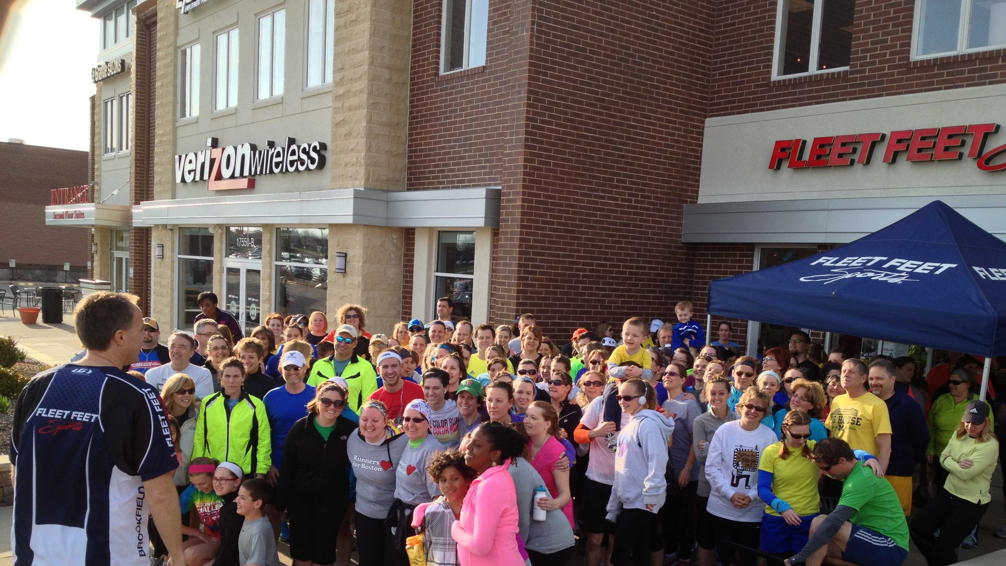 Runners gather for Fleet Feet Sports 5k run, benefiting One Fund Boston