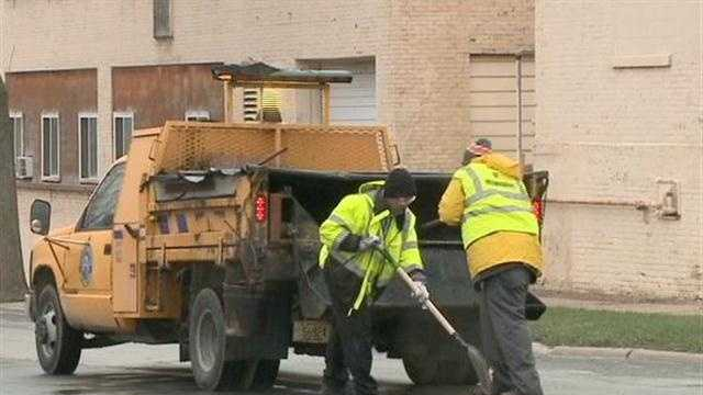 Milwaukee DWP crews are swamped as they try to fix potholes around the city.