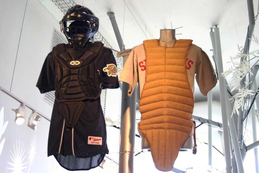 Improvements to safety gear was a necessity as the game became faster paced over the years.