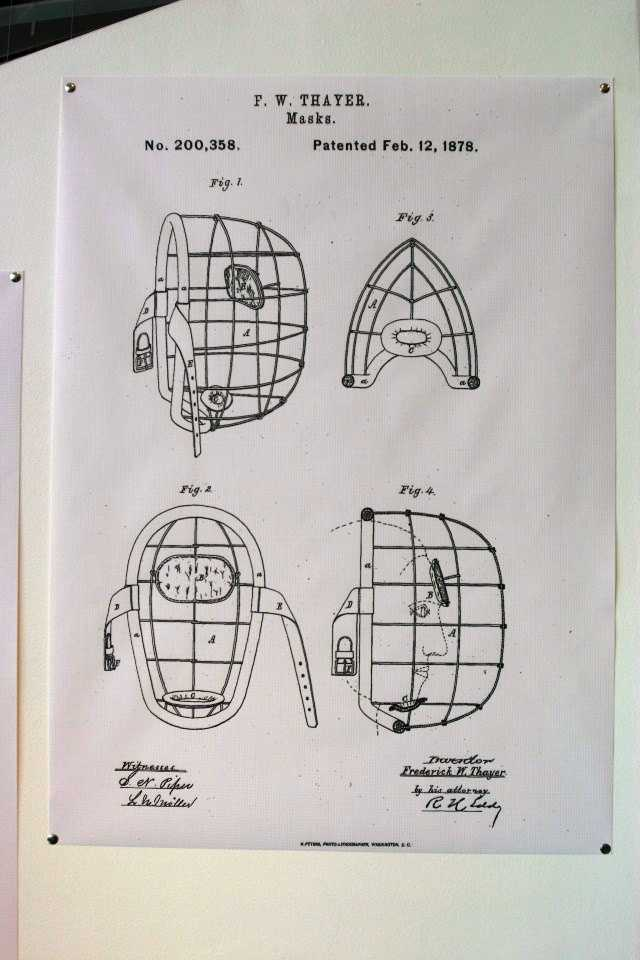 Catchers mask patent number #200,358.  Patented Feb 12, 1878.