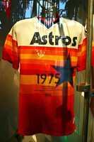 1975- Wayne Granger Houston Astros classic rainbow style game worn jersey