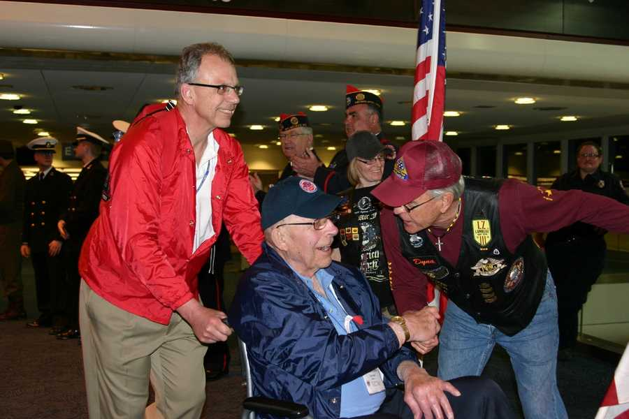 Each veteran is assigned a guardian for the entire trip.