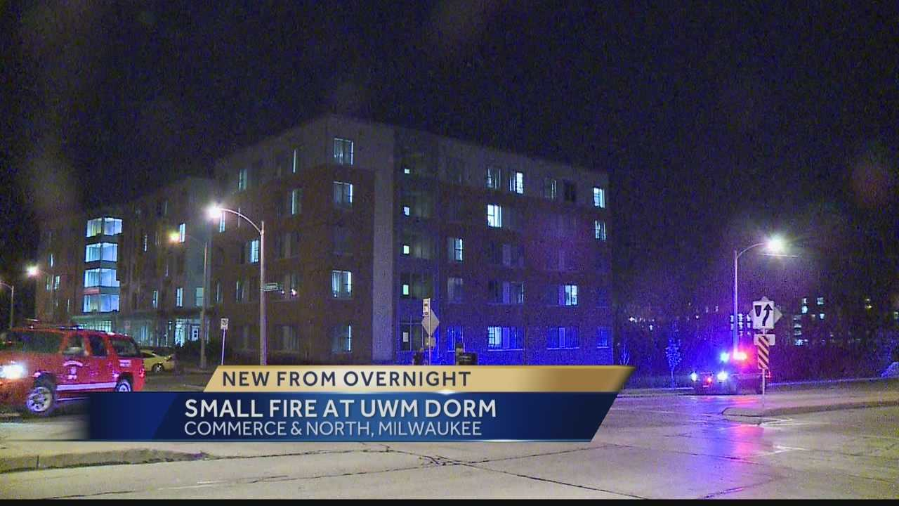 Students were evacuated from a UW-Milwaukee dorm after a small fire.