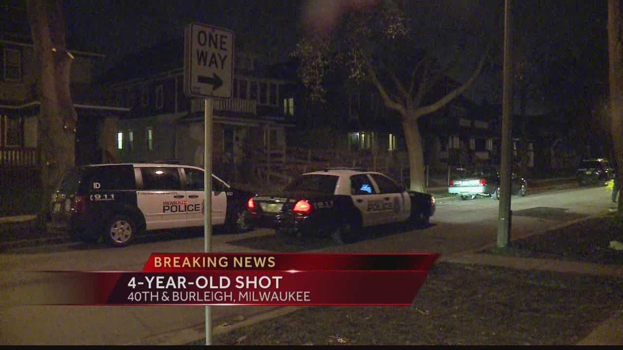 Milwaukee police look for the person who shot a 4-year-old boy late Tuesday night.