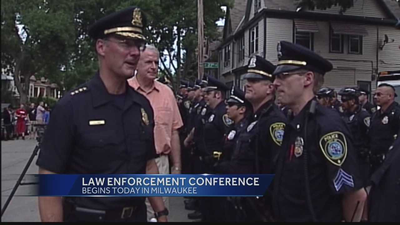 Dozens of police chiefs from across the country will be in Milwaukee as the city hosts the annual Police Executive Research Forum for the first time.