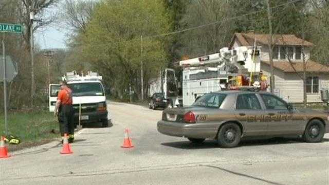 Wind Lake gas leak prompts evacuation.