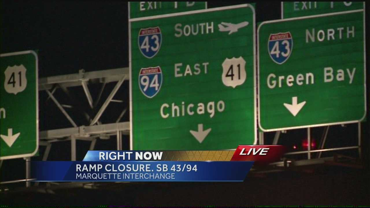 Monday, the ramp from I-794 to Southbound I-43 and I-94 will close for several months.  Hillary Mintz reports near the Marquette Interchange.