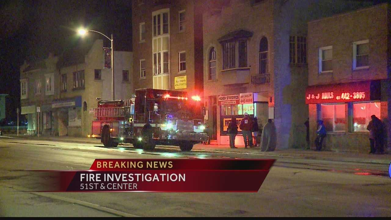 Milwaukee police are investigating the cause of an early-morning fire near 51st & Center.