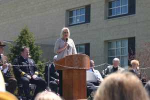 Amy Fabiano, wife of fallen Sheriff Deputy Frank Fabiano Jr, was the guest speaker.