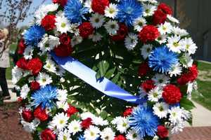 A wreath was placed as part of the service