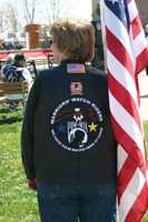Members of the Warrior's Watch Riders were on hand for the service.