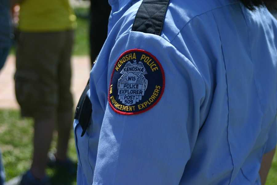 Kenosha Police Explorers were on hand for the service.