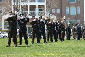 Rifle salute from Honor Guard.