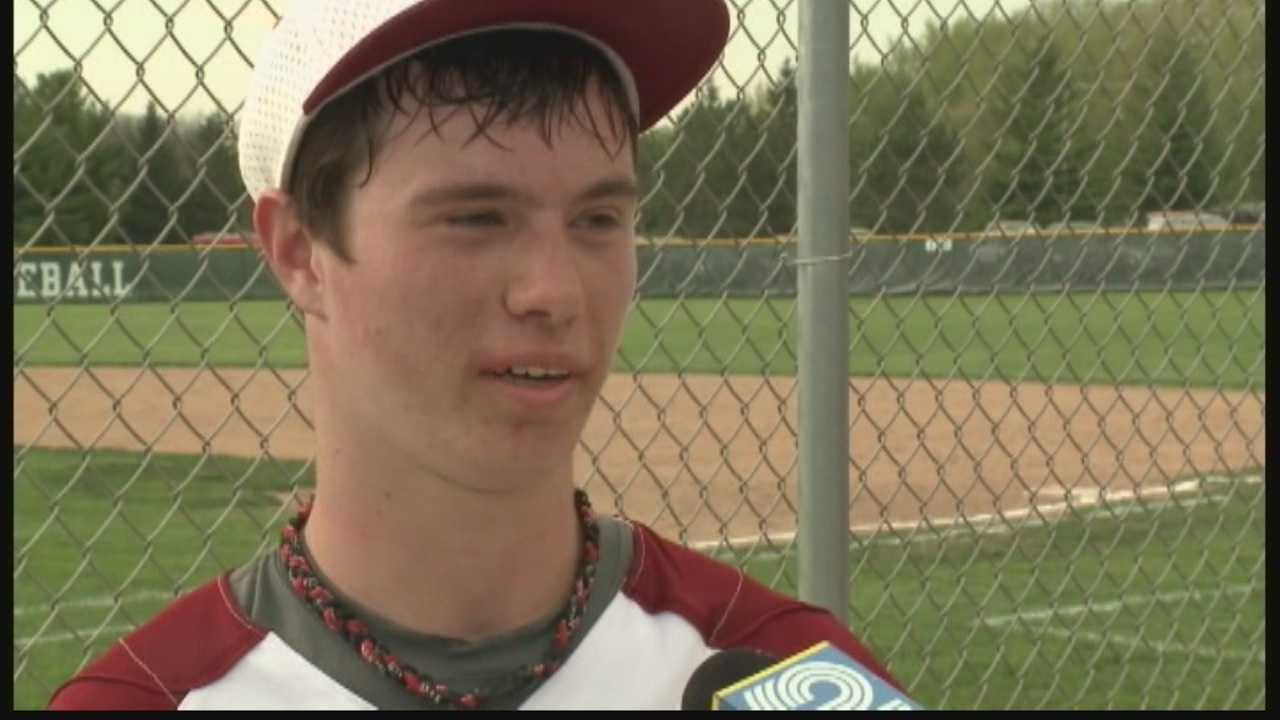A Lake Geneva high school student, hailed as one of the better players on the baseball team, has worked through a disability to become a star on the field.