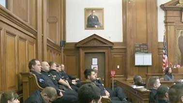 cops in court