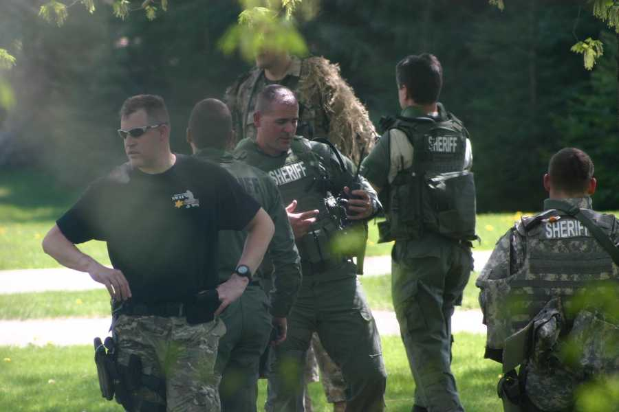The SWAT Team is comprised of Sheriff's Deputies and a Hartford Police Department Officer.
