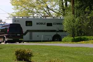 All of the regular command vehicles were on site as if this were a real situation.