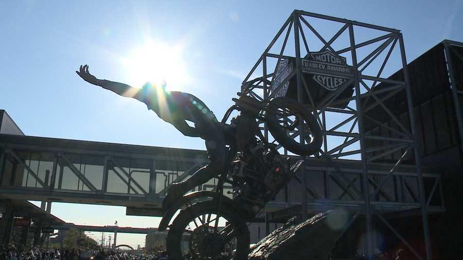 Harley-Davidson kicks off Bike Night at the museum Thursday night.