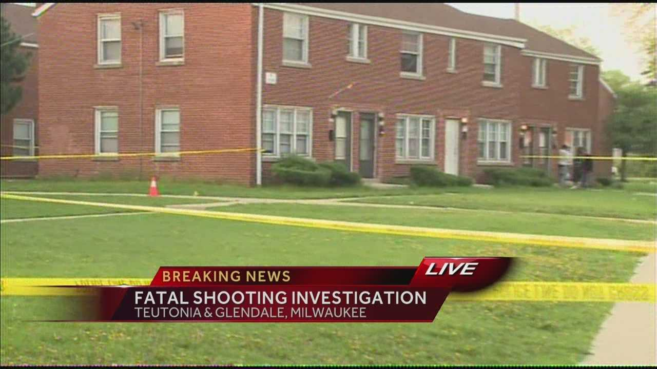 One person is dead in an early morning shooting at an apartment building near Teutonia and Glendale.