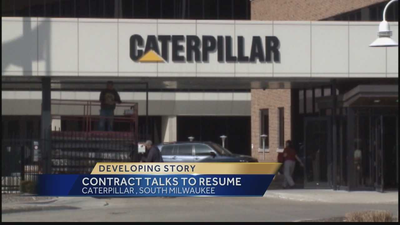 Contract talks will resume for 800 workers at Caterpillar in South Milwaukee.  WISN 12 News' Hillary Mintz reports on the proposals that were already rejected, and how negotiators plan to move talks forward.