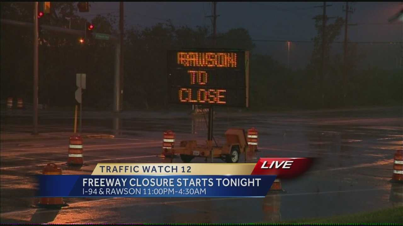 The Wisconsin Department of Transportation will close I-94 in both directions every night this week at Rawson Avenue.  WISN 12 News' Hillary Mintz reports.