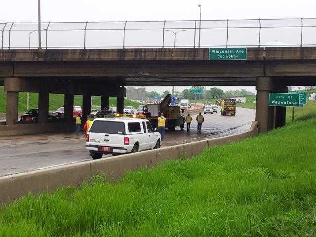 Inspectors are taking a close look at the Wisconsin Avenue bridge over Highway 45 after it was struck by a truck Tuesday morning. Read more here.