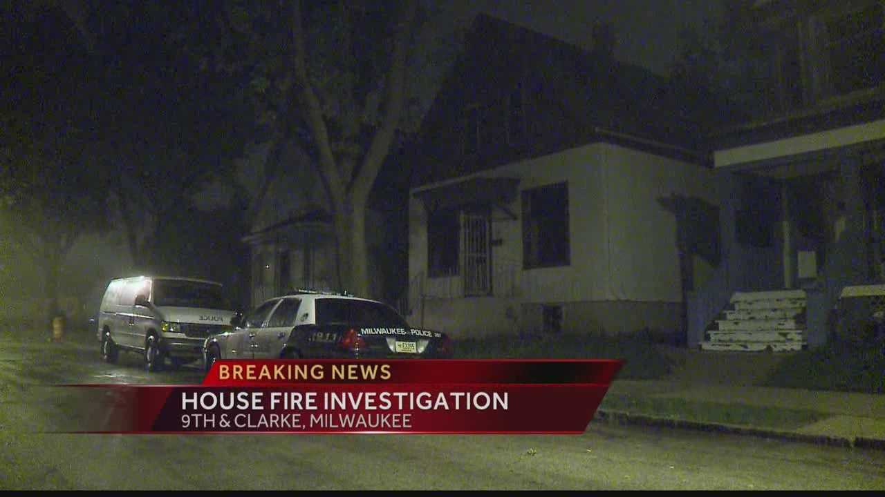 Milwaukee police and firefighters are investigating a late-Tuesday fire in a vacant house.