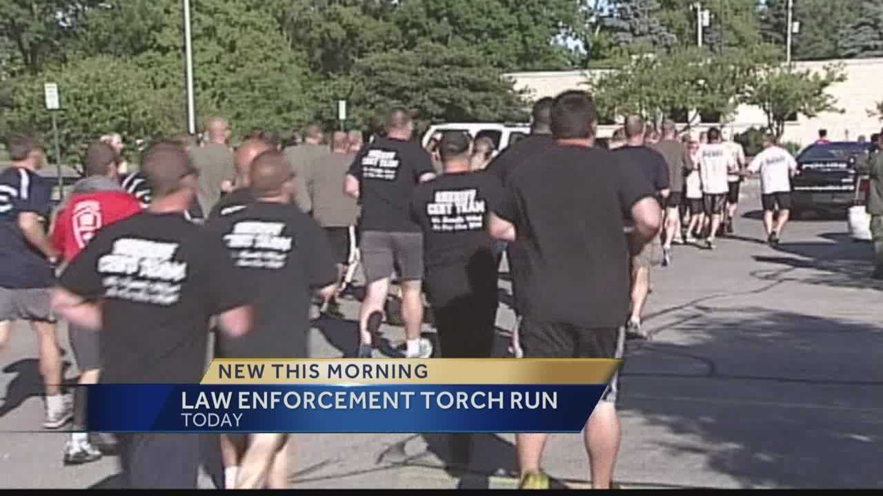 Area police will lace up their running shoes for Special Olympics this morning.  WISN 12 News' Hillary Mintz reports from Waukesha.