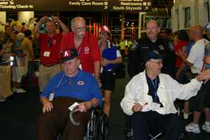Brothers, both veterans (one WWII and one Korean), were able to take this flight together.
