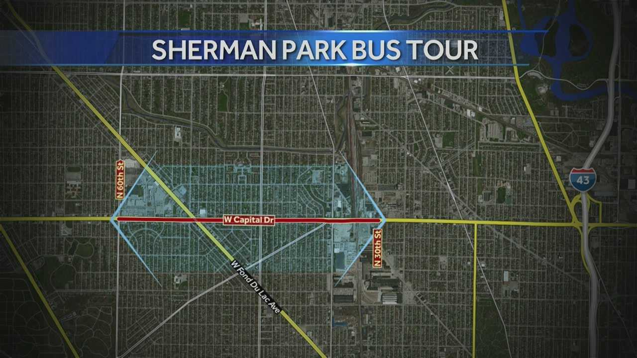The Sherman Park Neighborhood Association is hosting a bus tour on Saturday showcasing foreclosed and for sale homes.