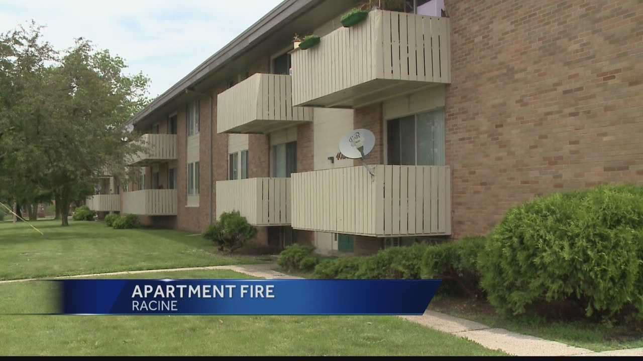 Two families are displaced after a fire hit an apartment building in Racine on Saturday.
