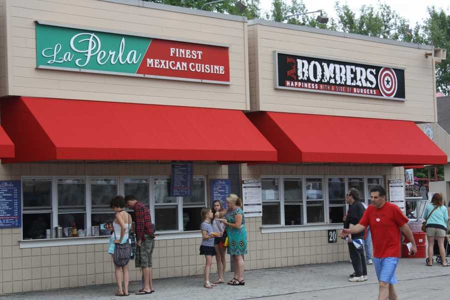 Many local restaurants are available on the Summerfest grounds.