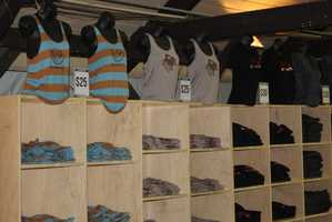 There are many apparel options at the Summerfest Store.