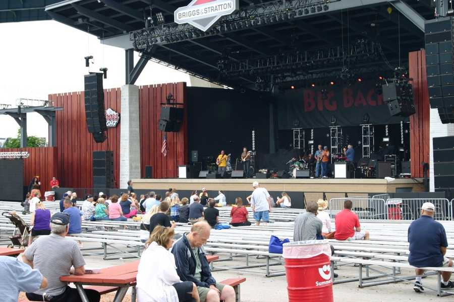 Music is the name of the game at Summerfest. Local acts warm up the early crowd for tonight's national headliner.