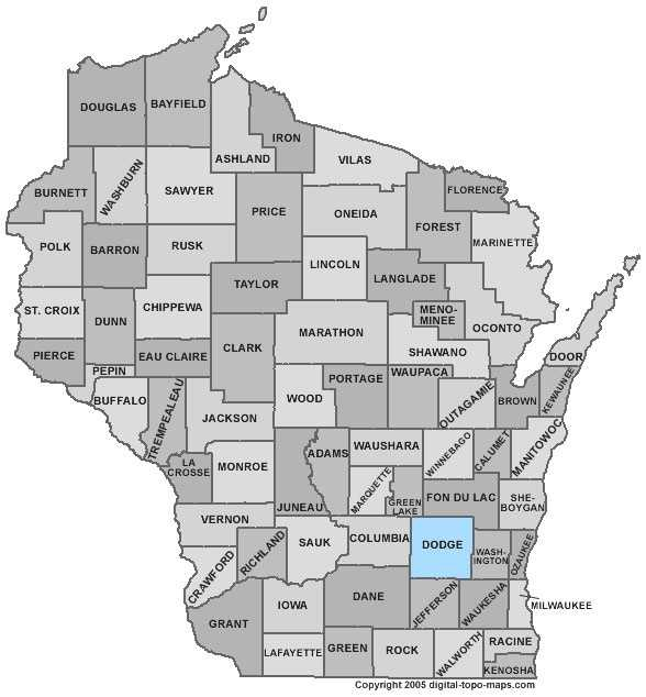 Dodge County: 7.0 percent, down from 7.8 percent in April