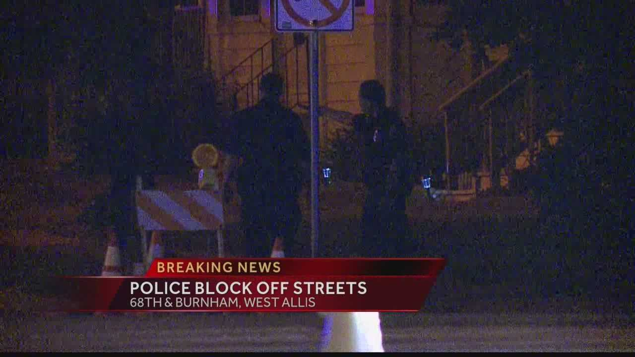 West Allis police closed off streets around 68th & Burnham during a possible standoff early Monday morning.  WISN 12 News' Hillary Mintz reports.