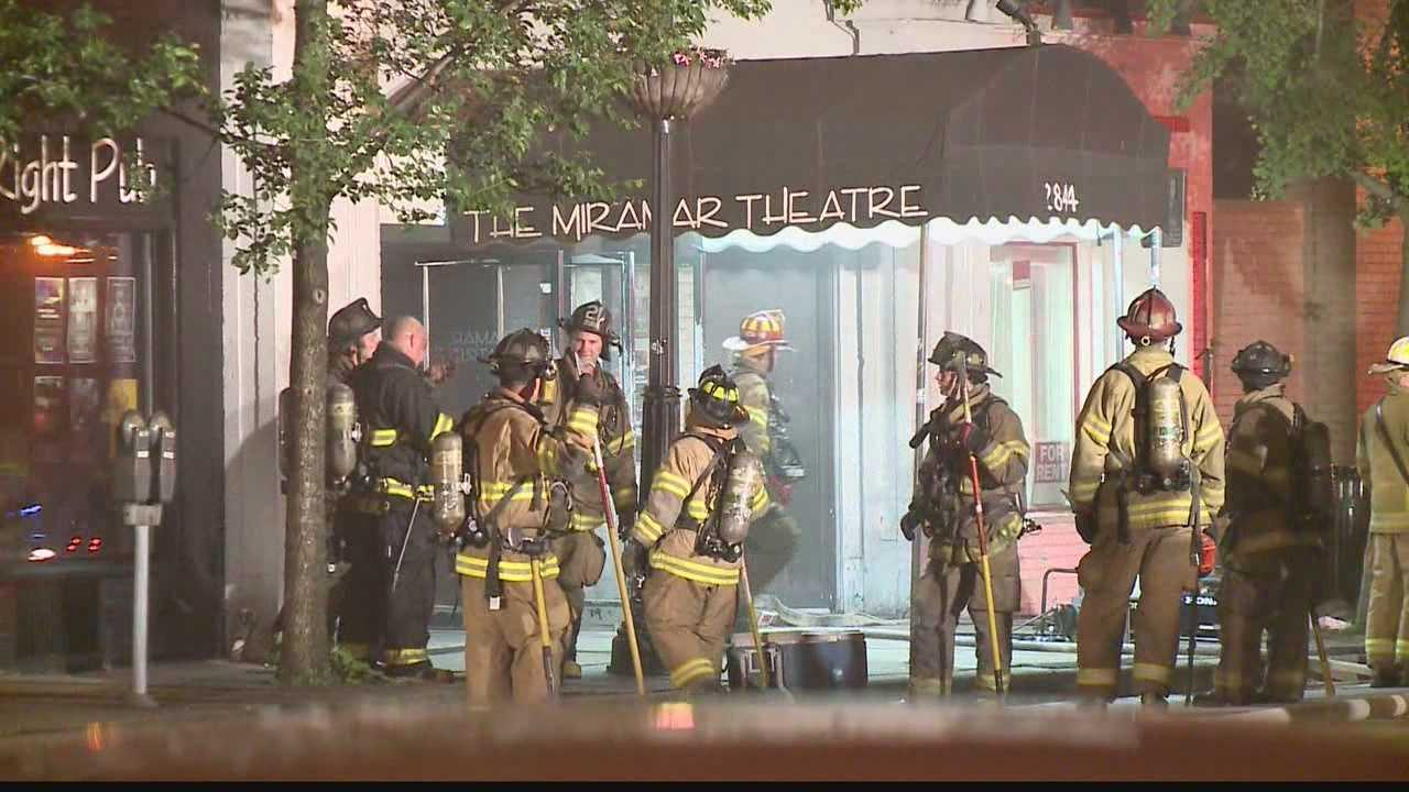 A fire caused damage Thursday morning to the Miramar Theatre in Milwaukee