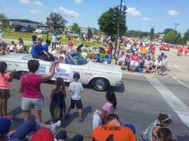 Portia and Patrick in the Brookfield parade.