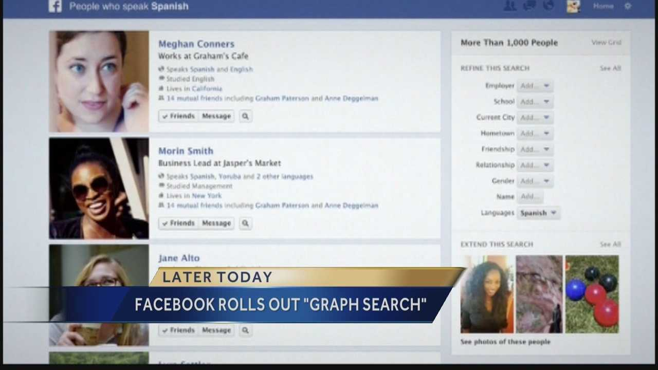 "Facebook will start rolling out its new ""Graph Search"" to users today."