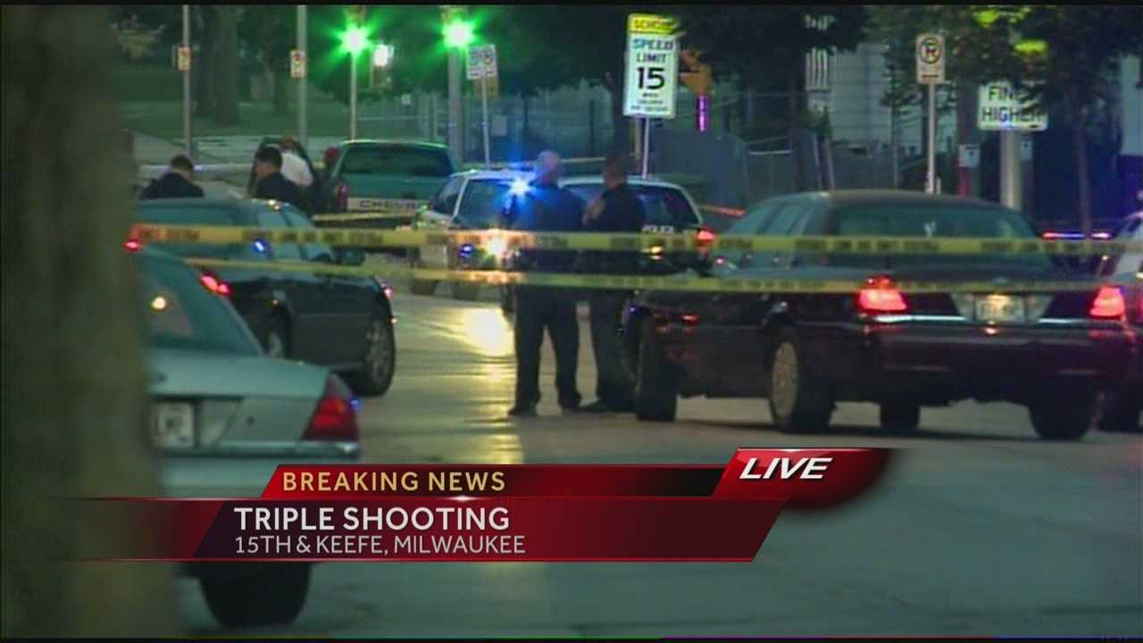 Milwaukee police say one person died in a triple shooting early Thursday morning.  WISN 12 News' Hillary Mintz reports from the scene.