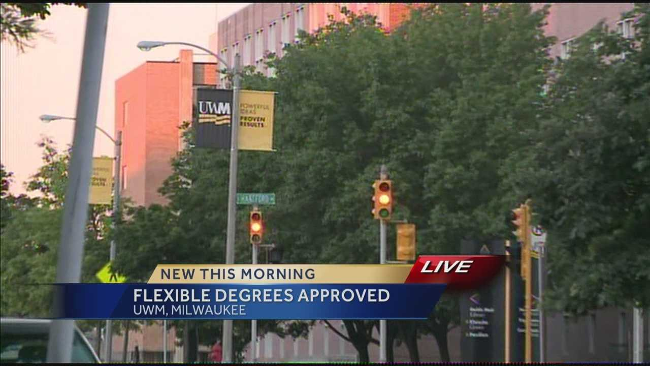 The University of Wisconsin approved flexible degree programs at two campus, including UW-Milwaukee.  WISN 12 News' Hillary Mintz reports.