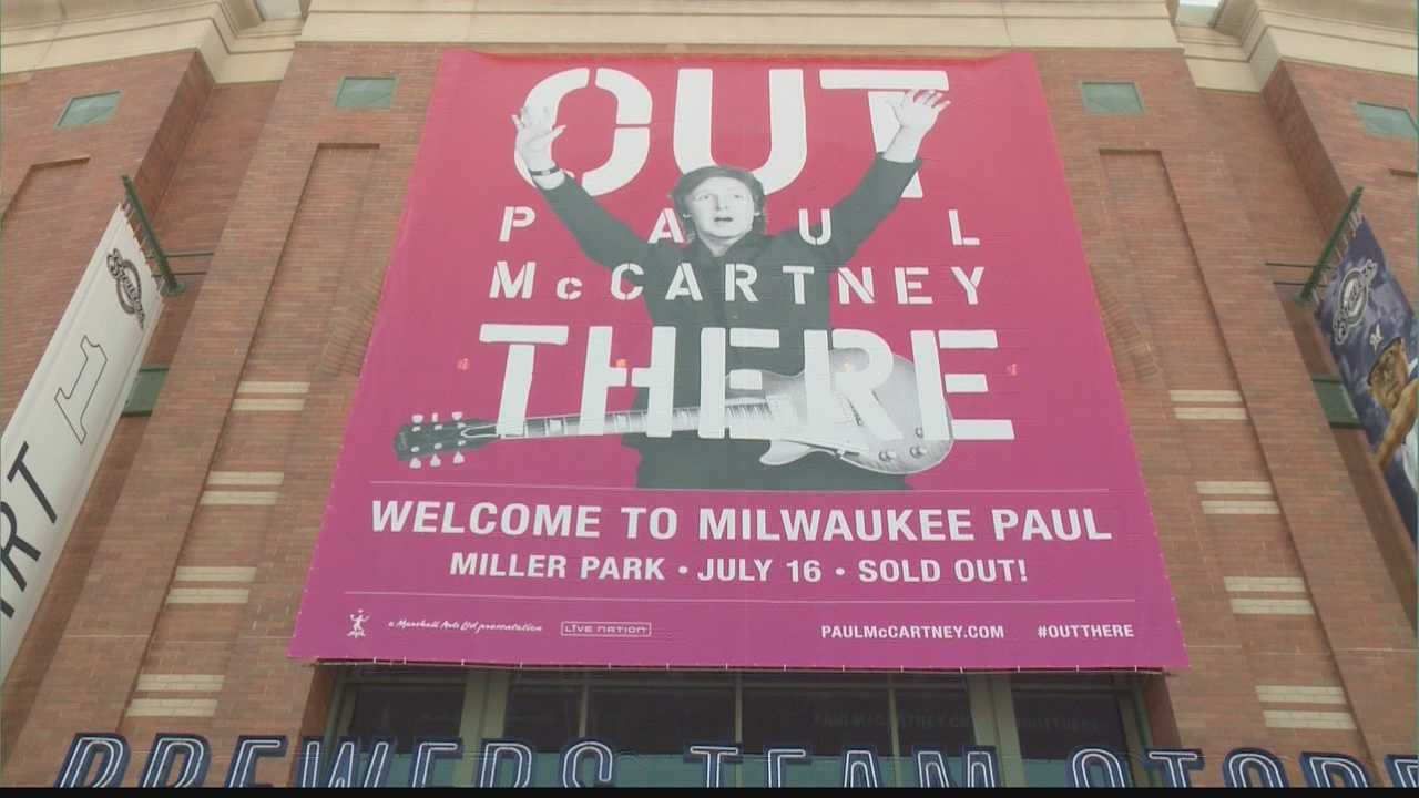 The stage is being set, and fans are ready for Paul McCartney at Miller Park.