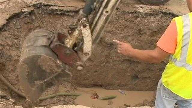 Several properties in Greendale were without water Sunday after a water main break.