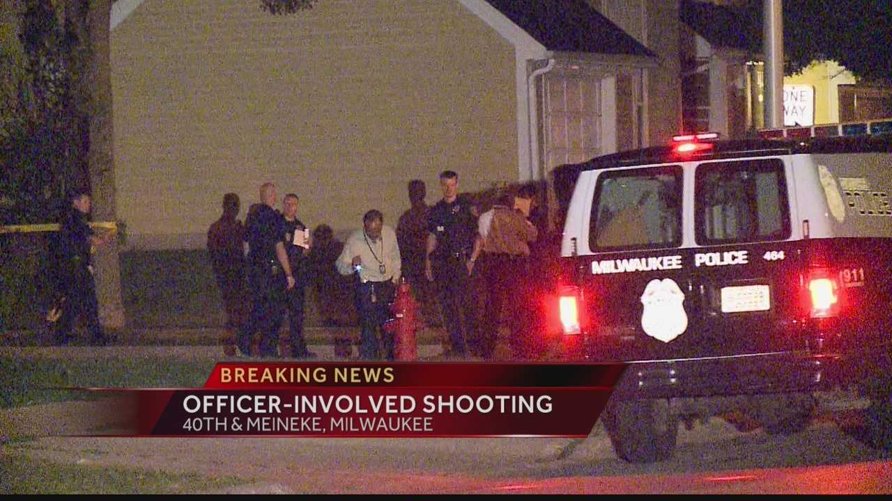 A Milwaukee police officer shot a man during an overnight incident.