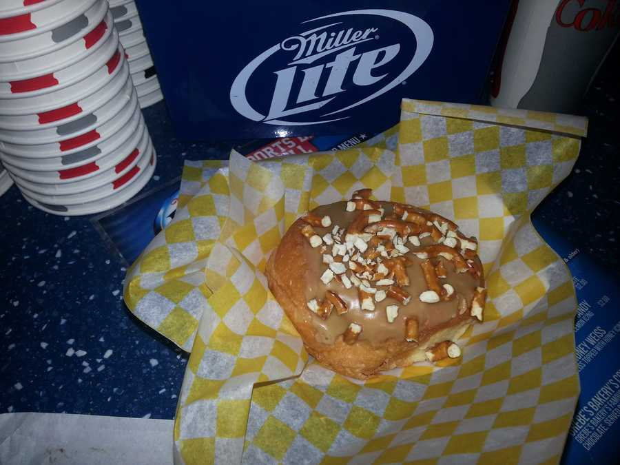 Another new item is the beer donuts. This one is the Honey Weiss.