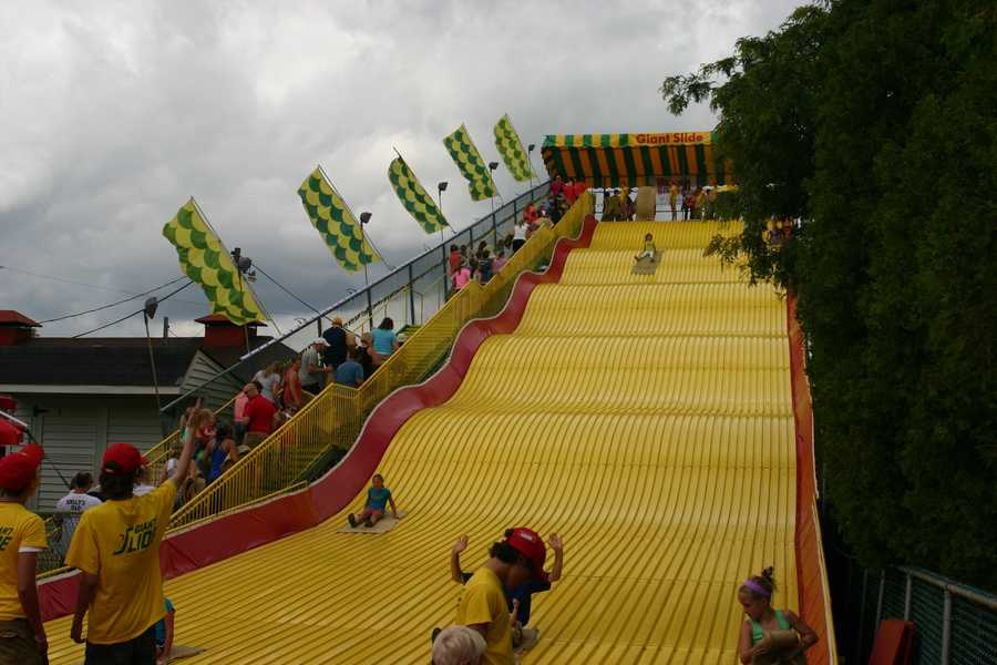 """The """"Giant Slide"""" is one of the most iconic things at the Wisconsin State Fair."""
