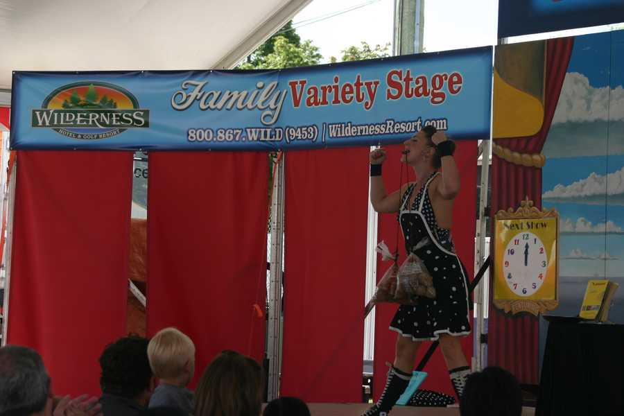 Many different shows are performed across the grounds daily.